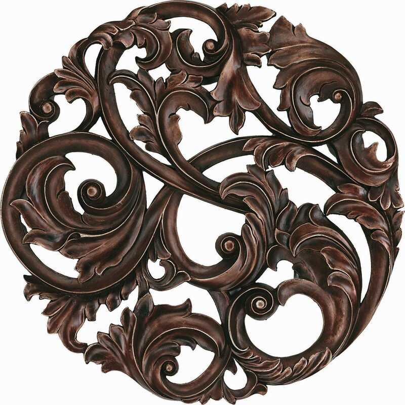 Paragon Aged Leaf Swirl Wall Décor