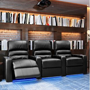 Blue LED Home Theater Row Seating (Row of 3) Latitude Run