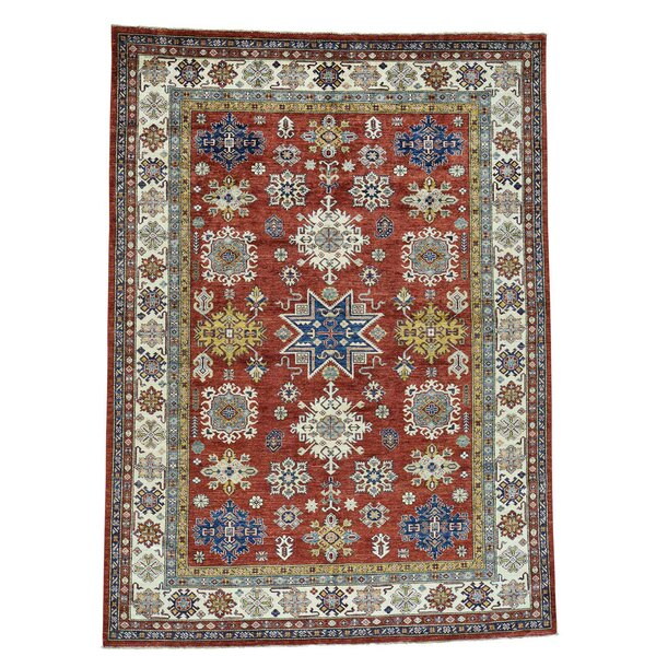 One-of-a-Kind Tilomar Hand-Knotted Rust Red Area Rug by Millwood Pines