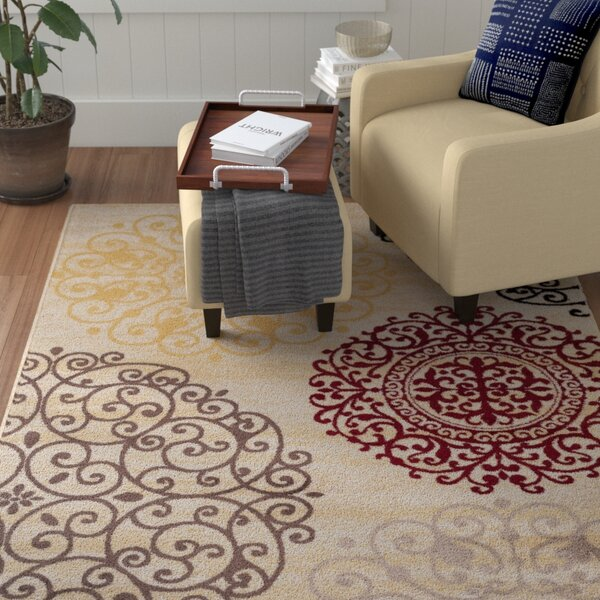 Ingaret Cream Area Rug by Winston Porter