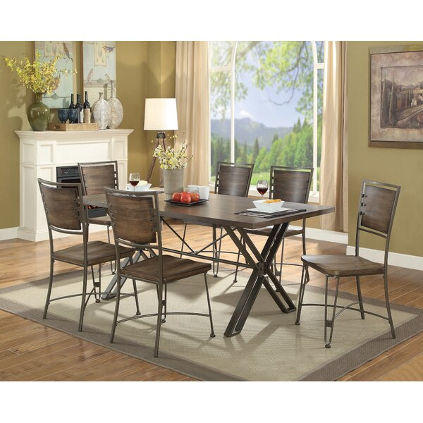 Holmes 7 Pieces Dining Set by 17 Stories