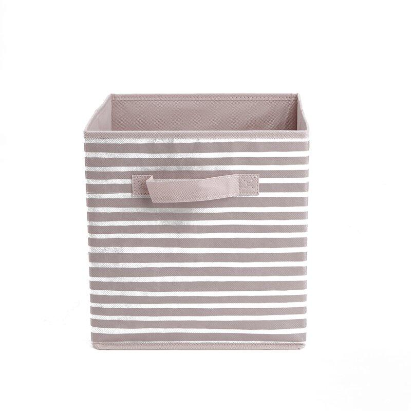 Beige 6 Pack Foldable Cube Storage Bin