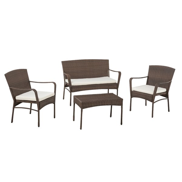 Gosport 4 Piece Sofa Seating Group by Wrought Studio