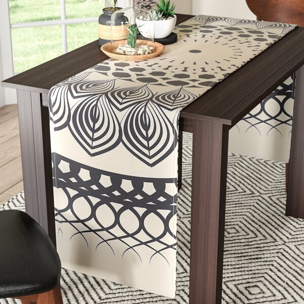 Famenxt Boho Mandala Geometric Table Runner by East Urban Home