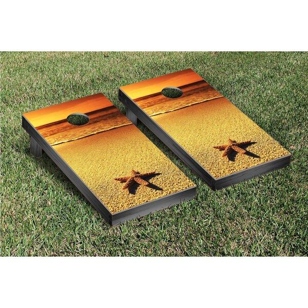 Starfish Sunset Cornhole Game Set by Victory Tailgate