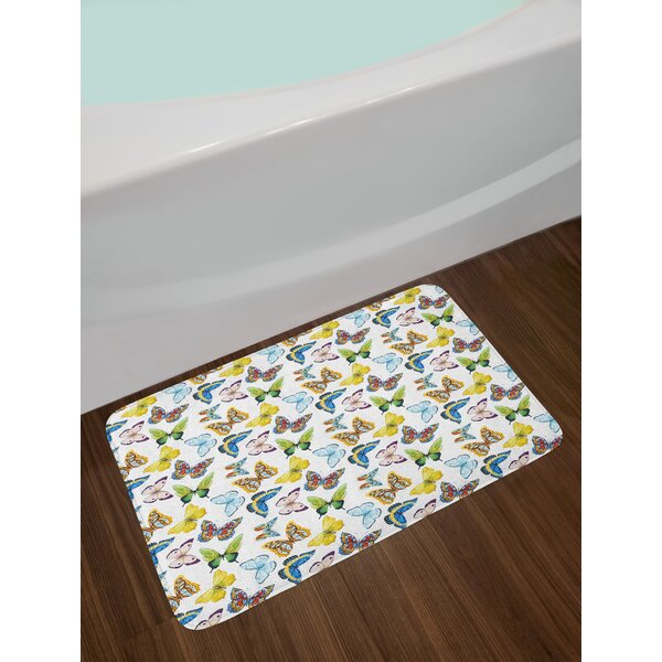Butterfly Bath Rug by East Urban Home