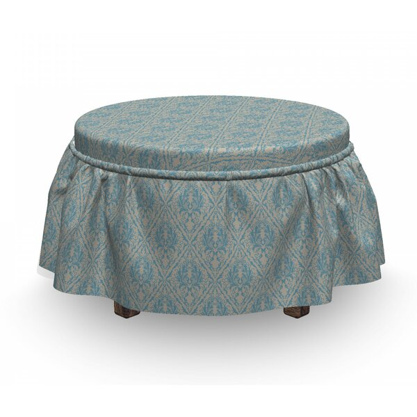 Scroll Ottoman Slipcover (Set Of 2) By East Urban Home