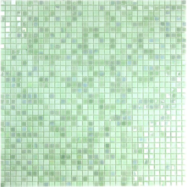 Galaxy Straight 0.31 x 0.31 Glass Mosaic Tile in Green by Abolos