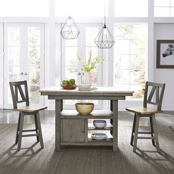 Kruger Kitchen Island Set by Gracie Oaks