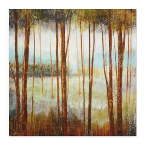 Soft Forest I by Ruane Manning Painting Print on Wrapped Canvas by Wexford Home