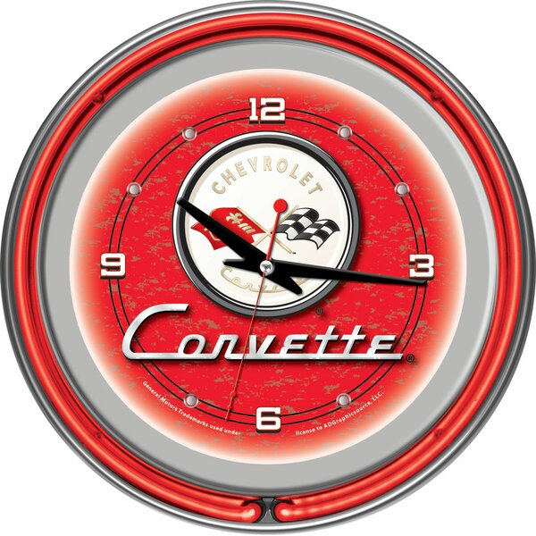 14 Corvette C1 Wall Clock by Trademark Global