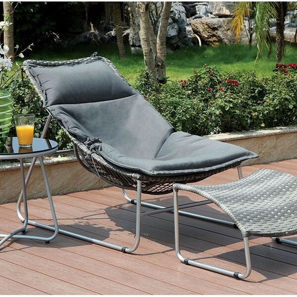 Bastien Patio Chair with Cushion by Latitude Run