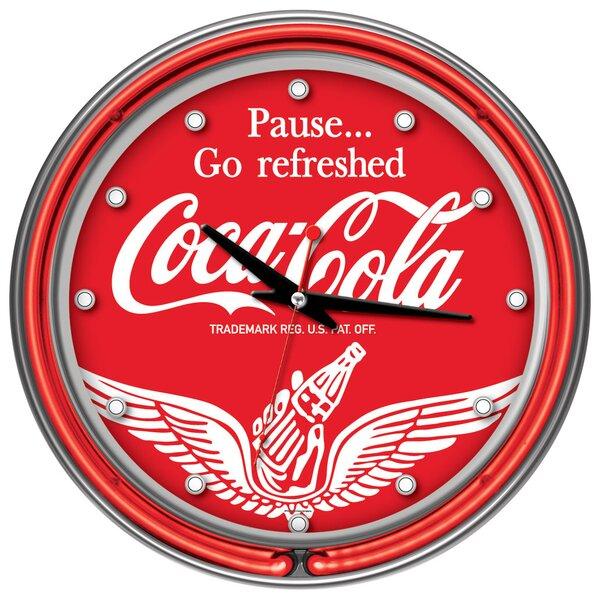 Coca Cola 14 Wall Clock by Trademark Global