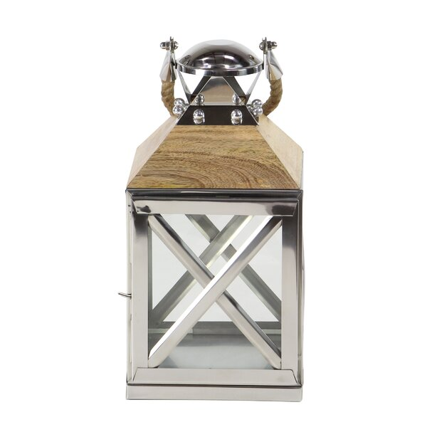 Traditional Metal Lantern by Breakwater Bay