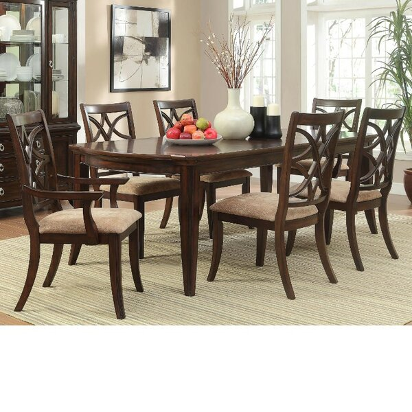 Clairsville Contemporary Style Wooden 7 Piece Dining Table Set by Canora Grey