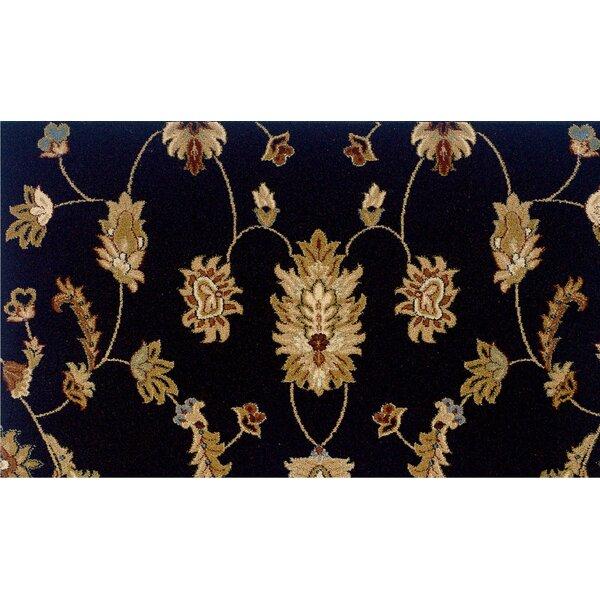Leesville Floral Black Area Rug