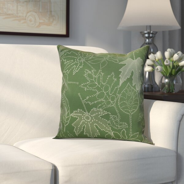Miller Dotted Leaves Floral Outdoor Throw Pillow by Alcott Hill