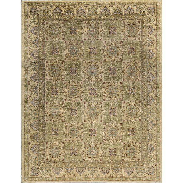 One-of-a-Kind Ziegler Hand-Knotted Green/Beige Indoor Area Rug by Bokara Rug Co., Inc.