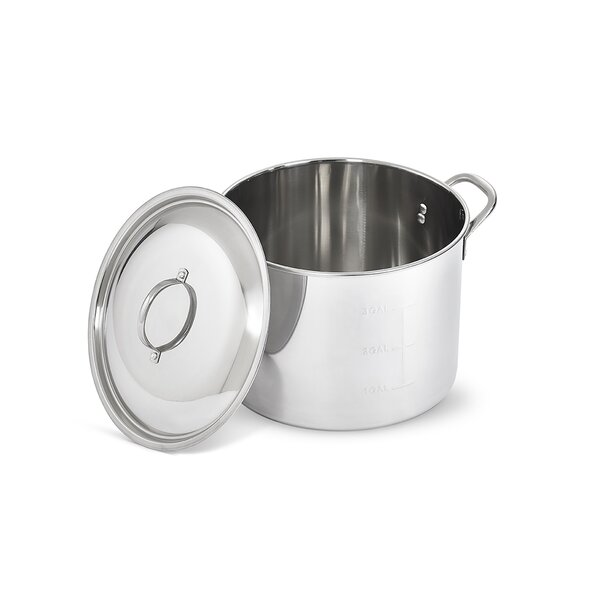 Stainless Steel Brew Pot with Cover by Artisan
