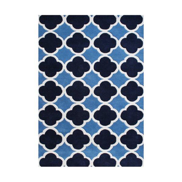 Danbury Hand-Tufted Azure Blue Area Rug by Alliyah Rugs