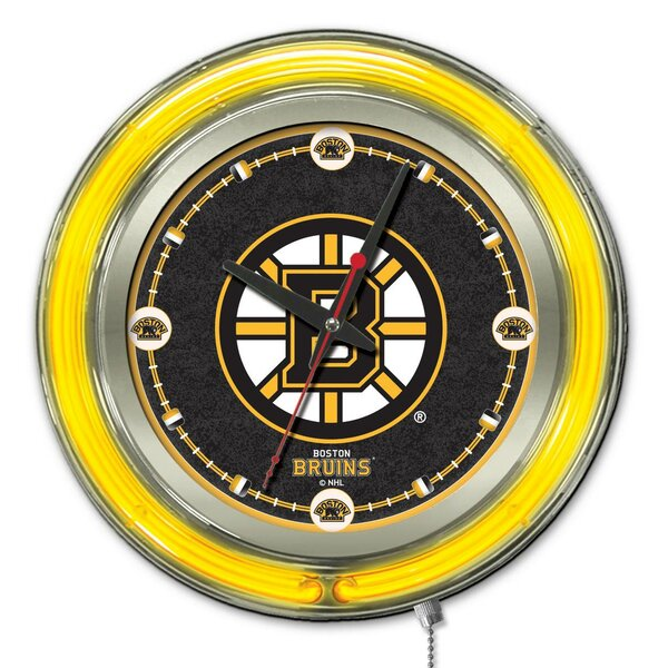 NHL 15 Double Neon Ring Logo Wall Clock by Holland