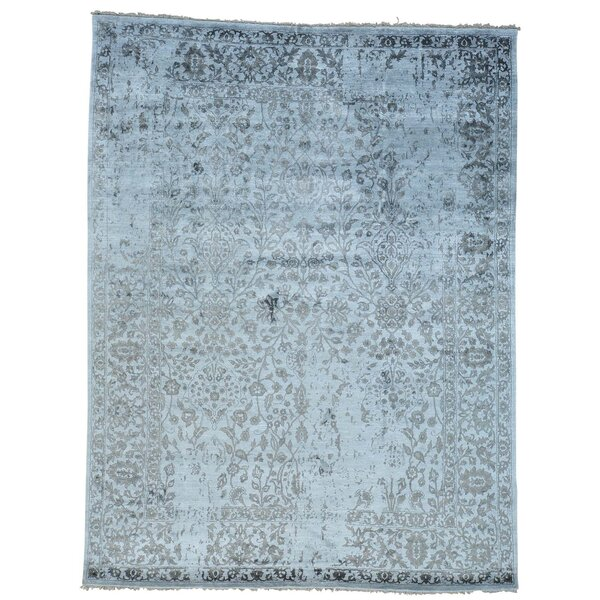 One-Of-A-Kind Osmonde Broken Oriental Hand-Knotted Silk Area Rug By One Allium Way.
