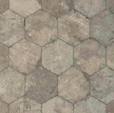 Chicago Brick Hexagon 9 x 11 Porcelain Field Tile in South Side by Tesoro