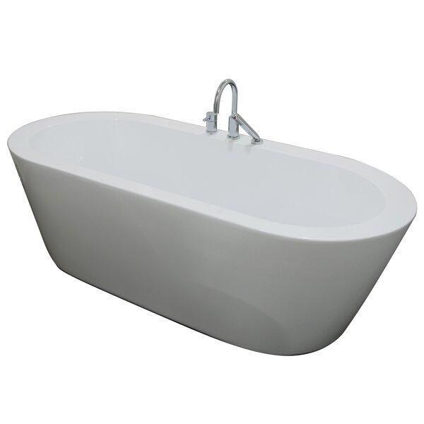 Una 71 x 24 Freestanding Soaking Bathtub by A&E Bath and Shower
