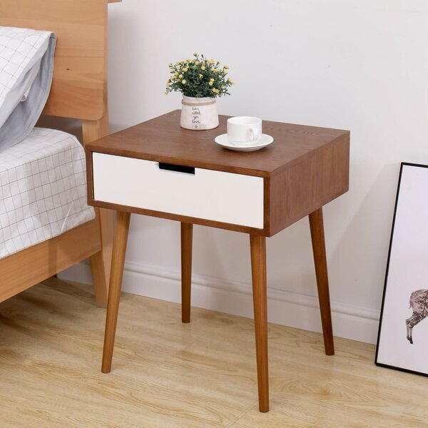 Gros 1 - Drawer Nightstand In Brown By Corrigan Studio