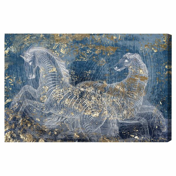 Typographic Equestrian Graphic Art on Wrapped Canvas by Art Remedy
