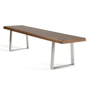 Chapdelaine Metal and Wood Bench by Brayden Studio