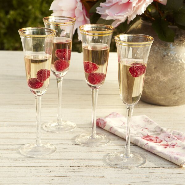 Aveline Champagne Flutes (Set of 4) by Birch Lane�
