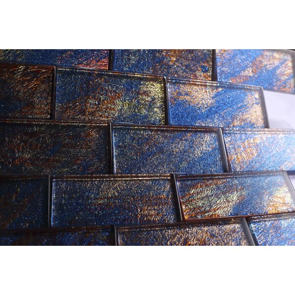 2 x 4 Glass Tile in Blue by Multile
