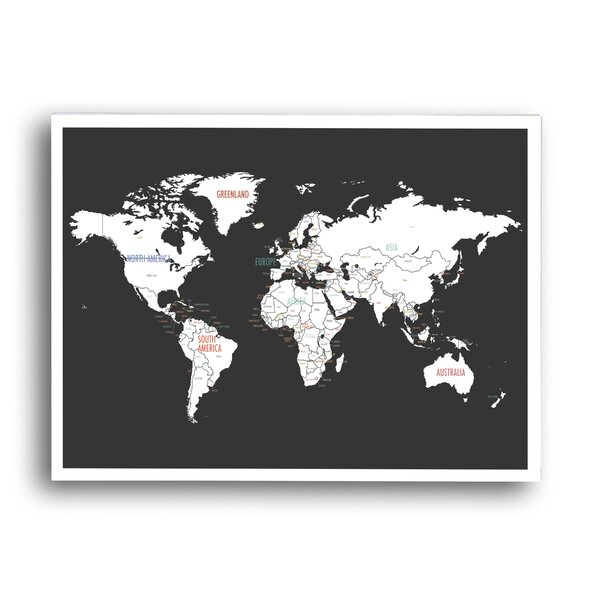 World Map Graphic Art Print, Poster by Global Artisan Kids Collection