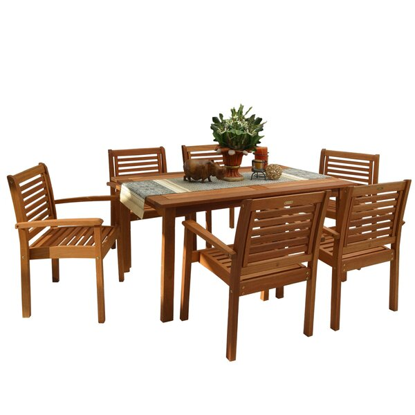 Mcshan International Home Outdoor 7 Piece Dining Set by Highland Dunes