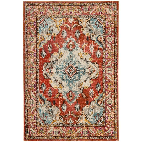 Annabel Orange Area Rug by Bungalow Rose