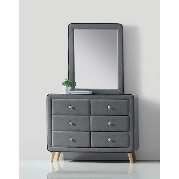 Minnesota 6 Drawer Double Dresser with Mirror by Mercer41