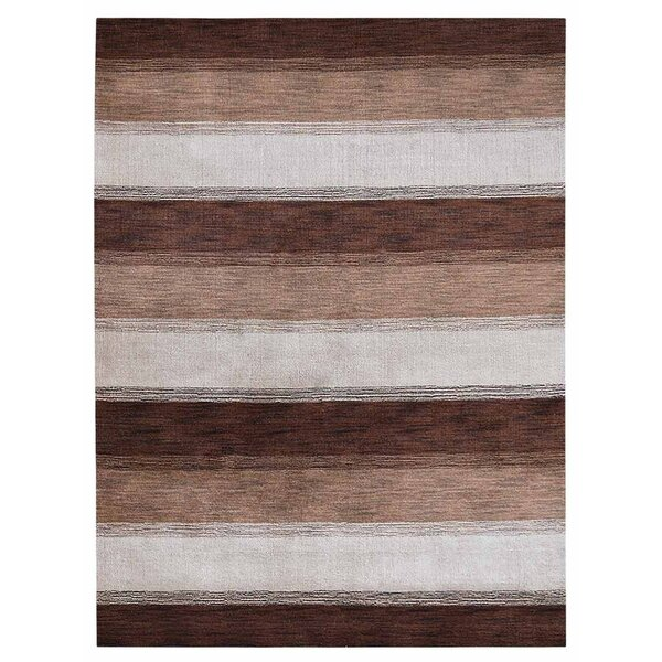 Chevery Hand-Woven Wool Brown/Gray Area Rug by Loon Peak