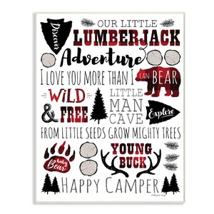 'Our Little Lumberjack' Textual Art by Harriet Bee