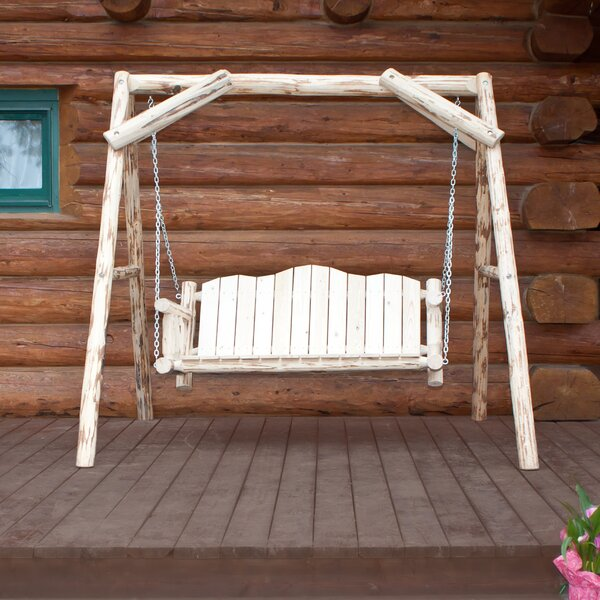 Tustin Porch Swing with Stand by Loon Peak