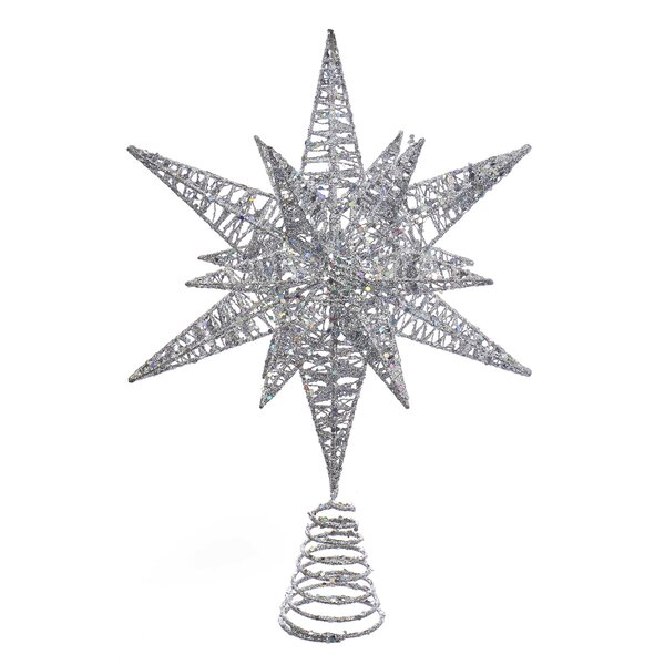 Glitter Angle Star Tree Topper by Kurt Adler