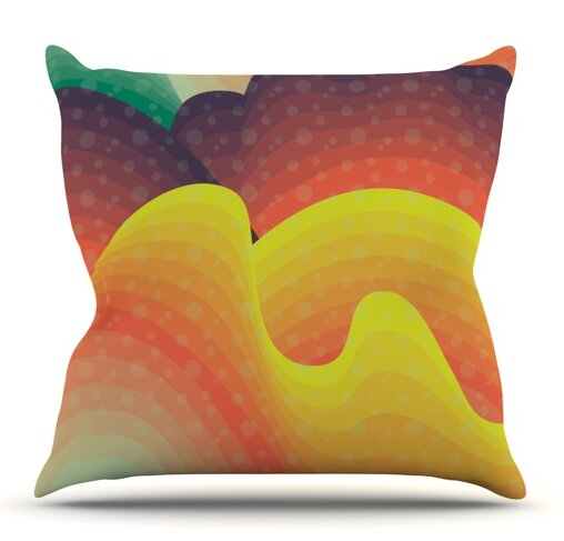 Waves Waves by Akwaflorell Outdoor Throw Pillow by East Urban Home