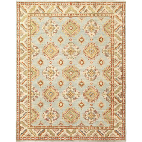 One-of-a-Kind Diaz Hand-Knotted Wool Orange/Blue Indoor Area Rug by Isabelline