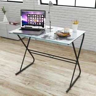 Glass desks wayfair staple hill office workstation writing desk gumiabroncs Gallery
