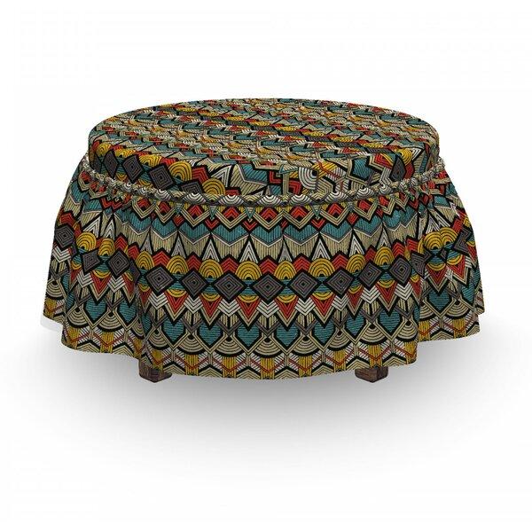 Grunge Geometric Ottoman Slipcover (Set Of 2) By East Urban Home