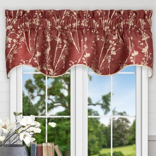 Floral Red Valances Kitchen Curtains Youll Love