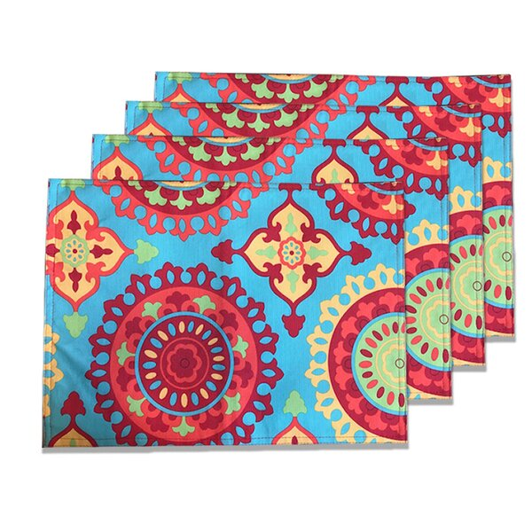 Cristian Indoor/Outdoor Placemat (Set of 4) by Bungalow Rose