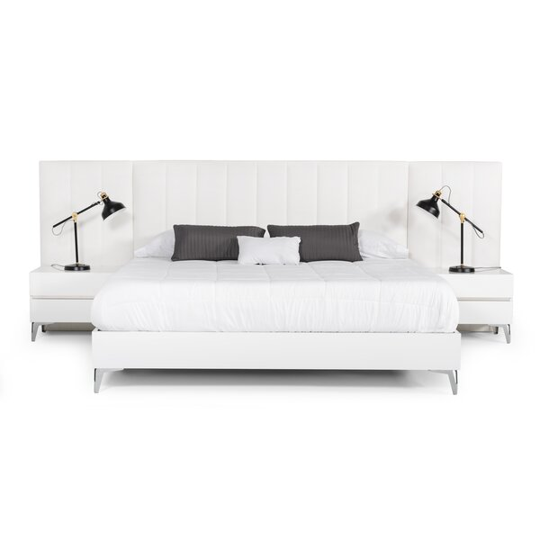 Kayna Italian Modern Platform 3 Piece Bedroom Set by Orren Ellis