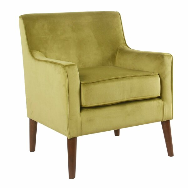 Hauser Fabric Upholstered Wooden Armchair by George Oliver George Oliver