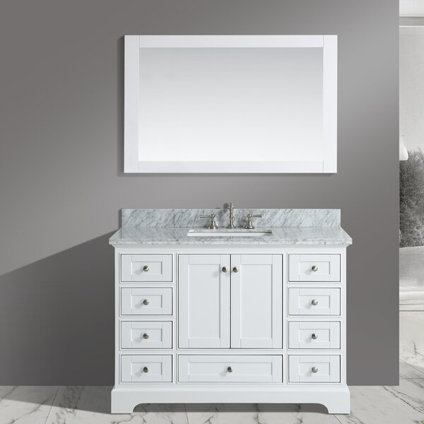 Castellanos 48 Single Bathroom Vanity Set with Mirror by Charlton Home